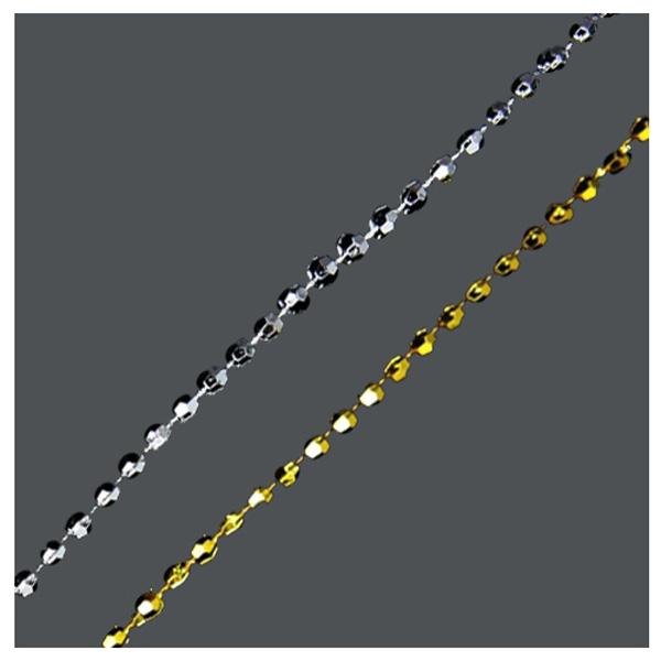 체인구슬 각볼1.5mm -금색