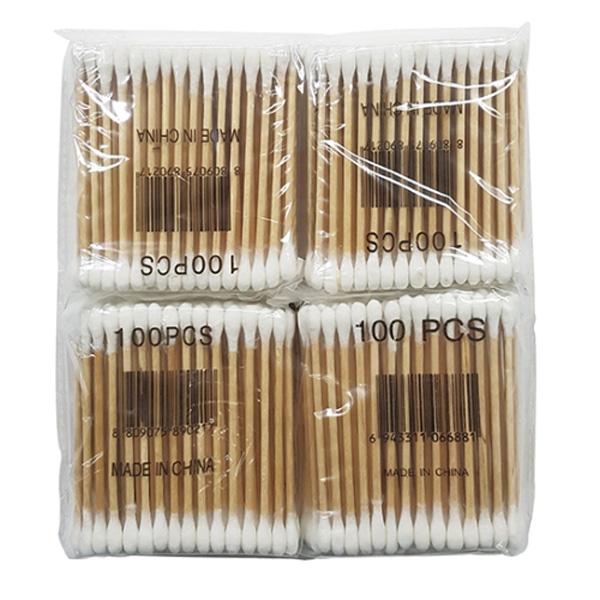 면봉 비닐팩 4개입