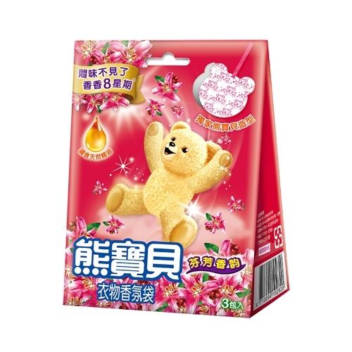스너글)곰돌이방향제레드(상큼한과일/과일향/21g)