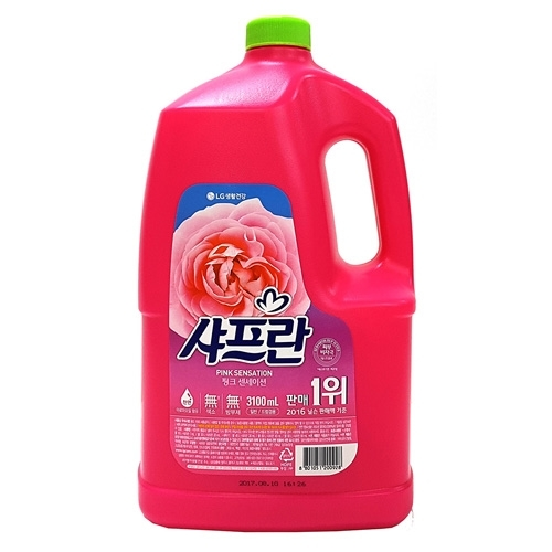 LG생활 샤프란핑크센세이션 용기 3,100㎖