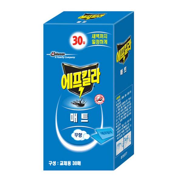 한국존슨 에프킬라매트히터 리필 30매