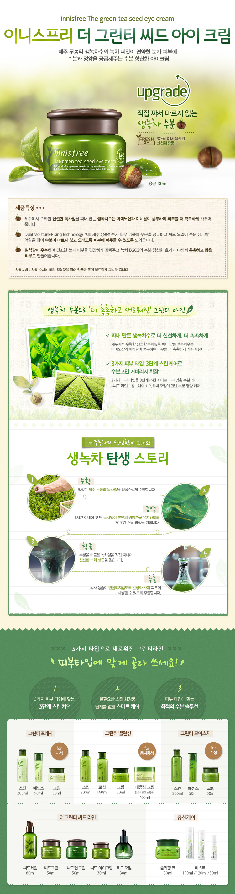 The Green Tea Seed Eye Cream 30ml Innisfree Heize Detail