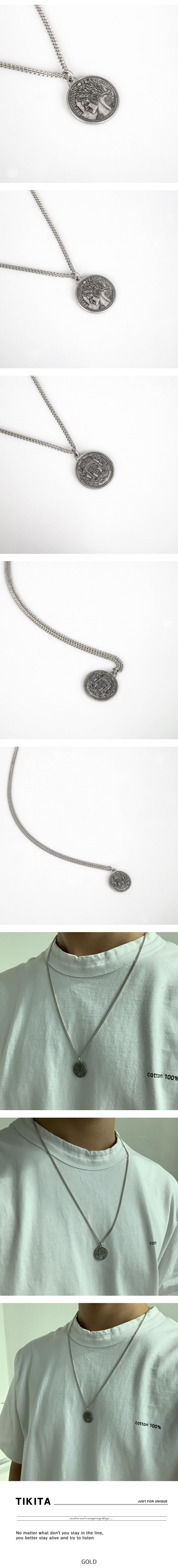 남자 목걸이 레이어드 코인 펜던트 패션 tikita coin - 티키타, 17,500원, 남성주얼리, 목걸이