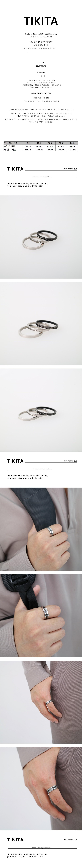 남자 반지 실버 블랙 레이어드 레터링 SSB - 티키타, 13,000원, 남성주얼리, 반지