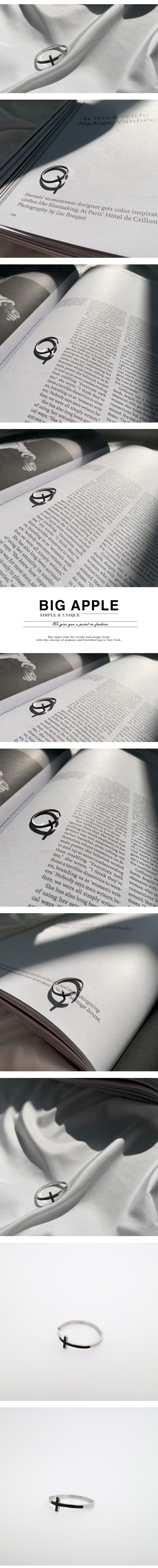 남자 반지 써지컬스틸 십자가 레이어드 thin cross - 빅애플, 17,000원, 남성주얼리, 반지