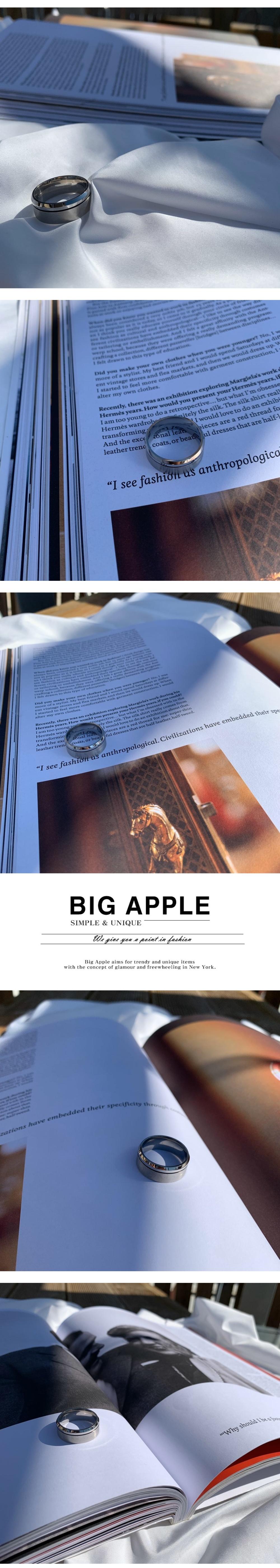 남자 반지 두꺼운 무광 써지컬 aphotic - 빅애플, 30,000원, 남성주얼리, 반지