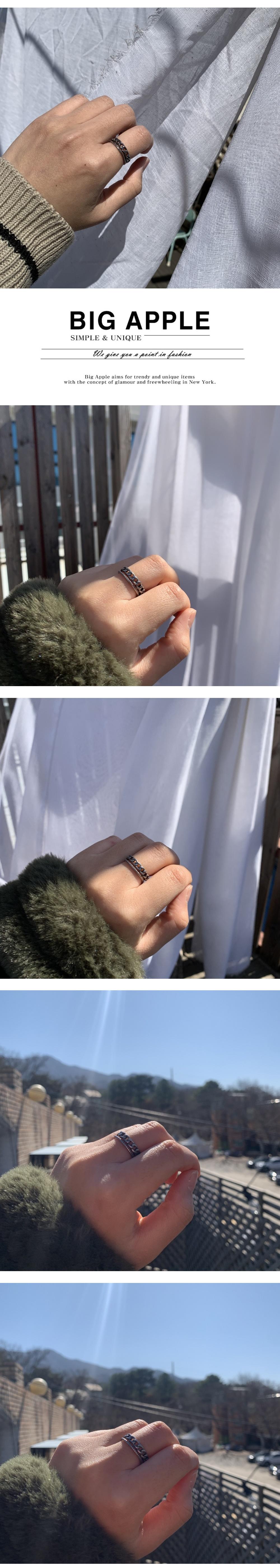 남자 반지 체인 뱅글 두줄 miracle bangle - 빅애플, 17,000원, 남성주얼리, 반지