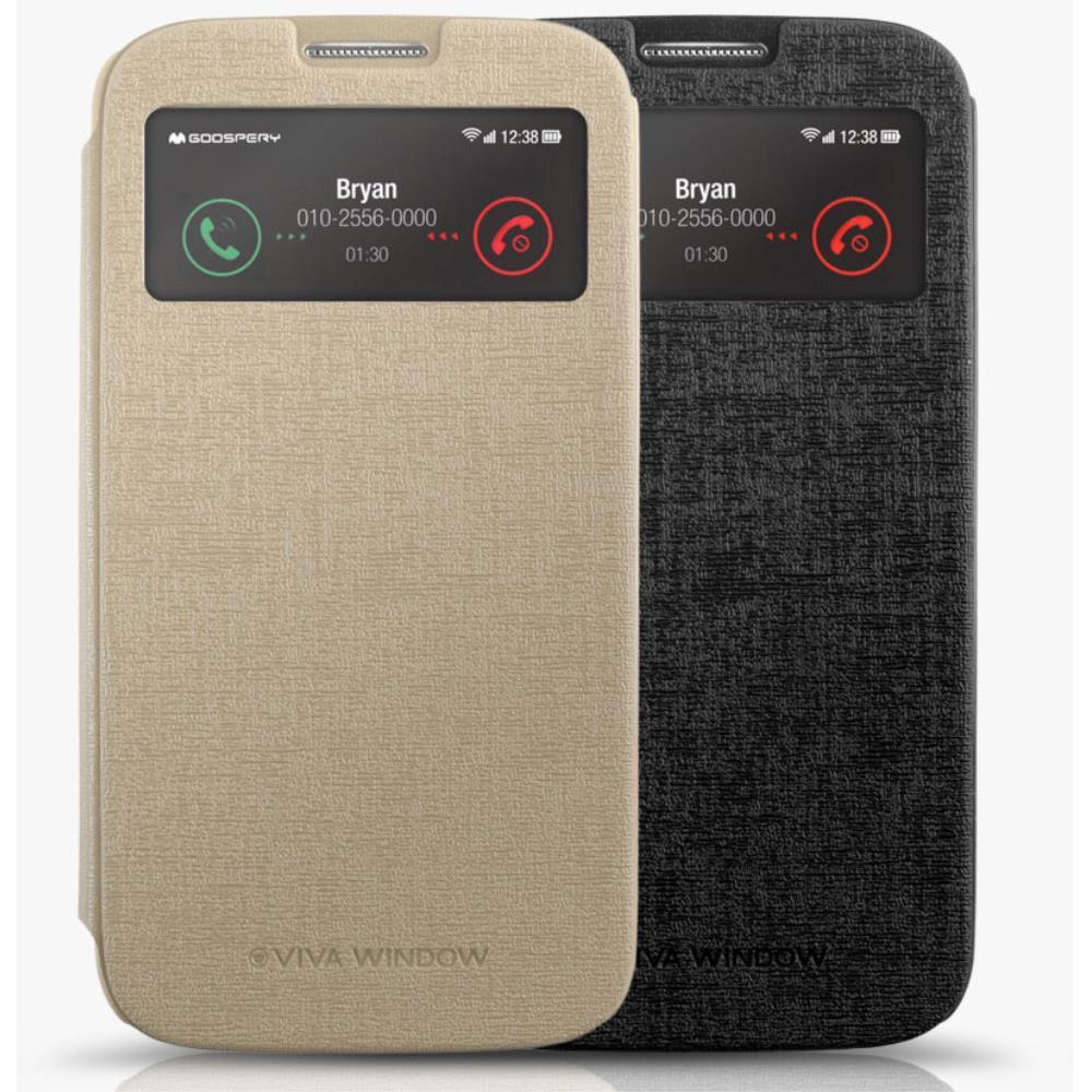 갤럭시 A7 플립 윈도우커버 가죽 케이스 부모님선물 휴대폰