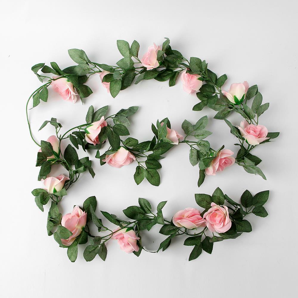벽면 울타리 연출 장미 조화 넝쿨 인조꽃 조화꽃잎