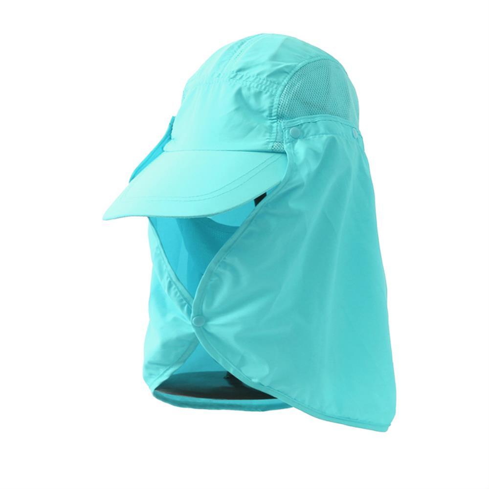 통풍 메쉬 햇빛가리개 플랩 등산 모자 지외선차단