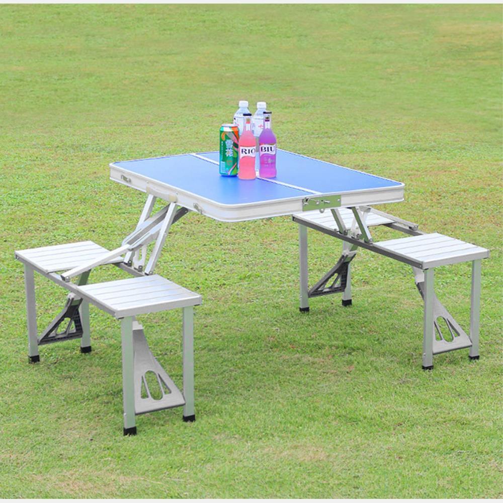 4인용 의자 일체형 폴딩 휴대 캠핑 테이블 피크닉테이블