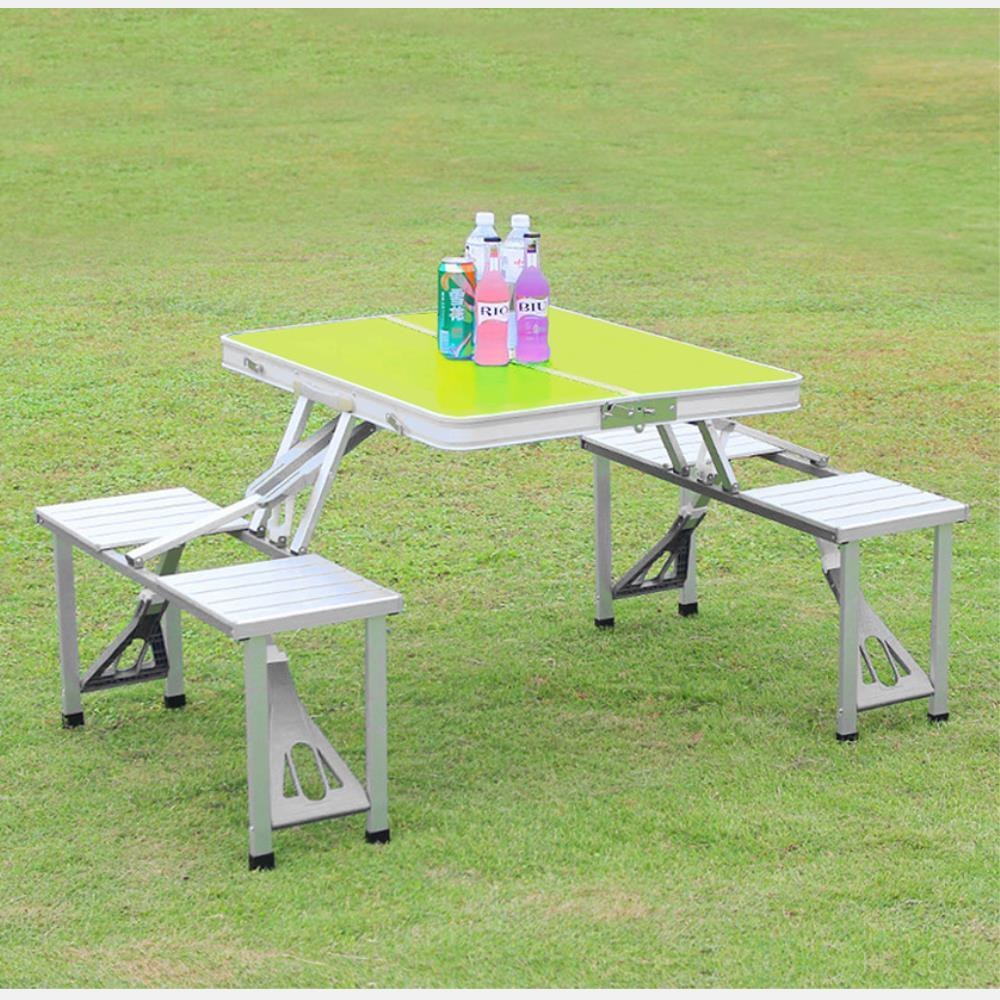 4인용 의자 일체형 접이식 캠핑 낚시 테이블 피크닉테이블