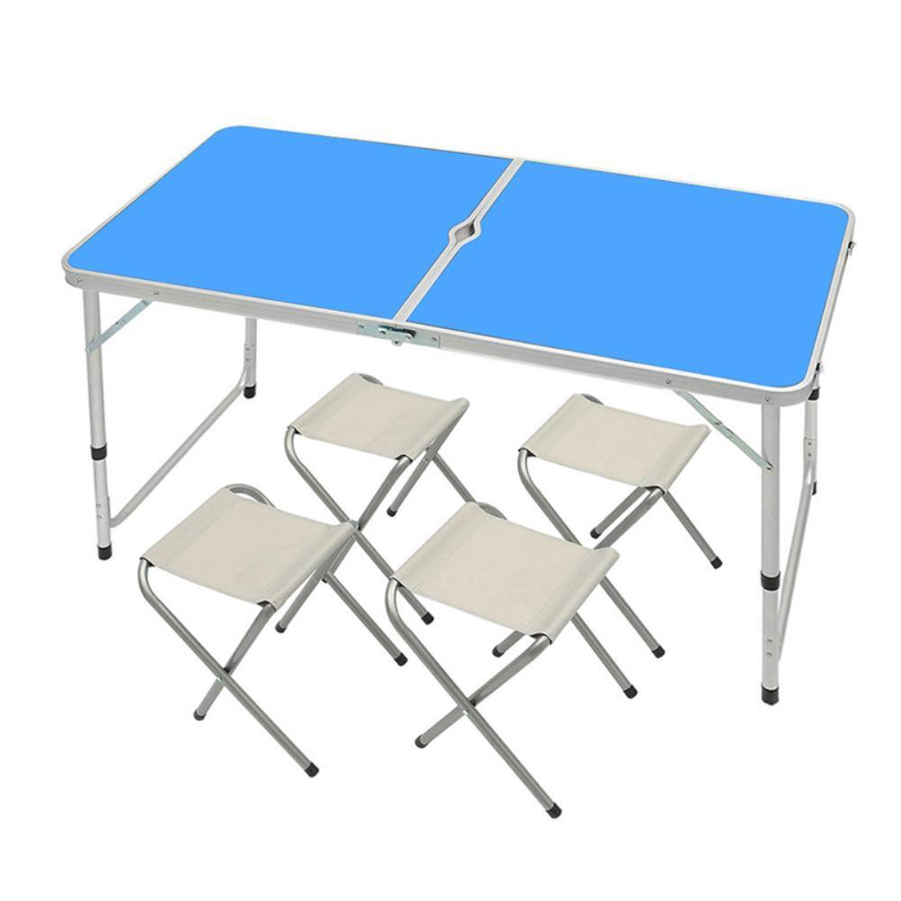 4인용 접이식 높이조절 캠핑 테이블 의자세트 레져용품