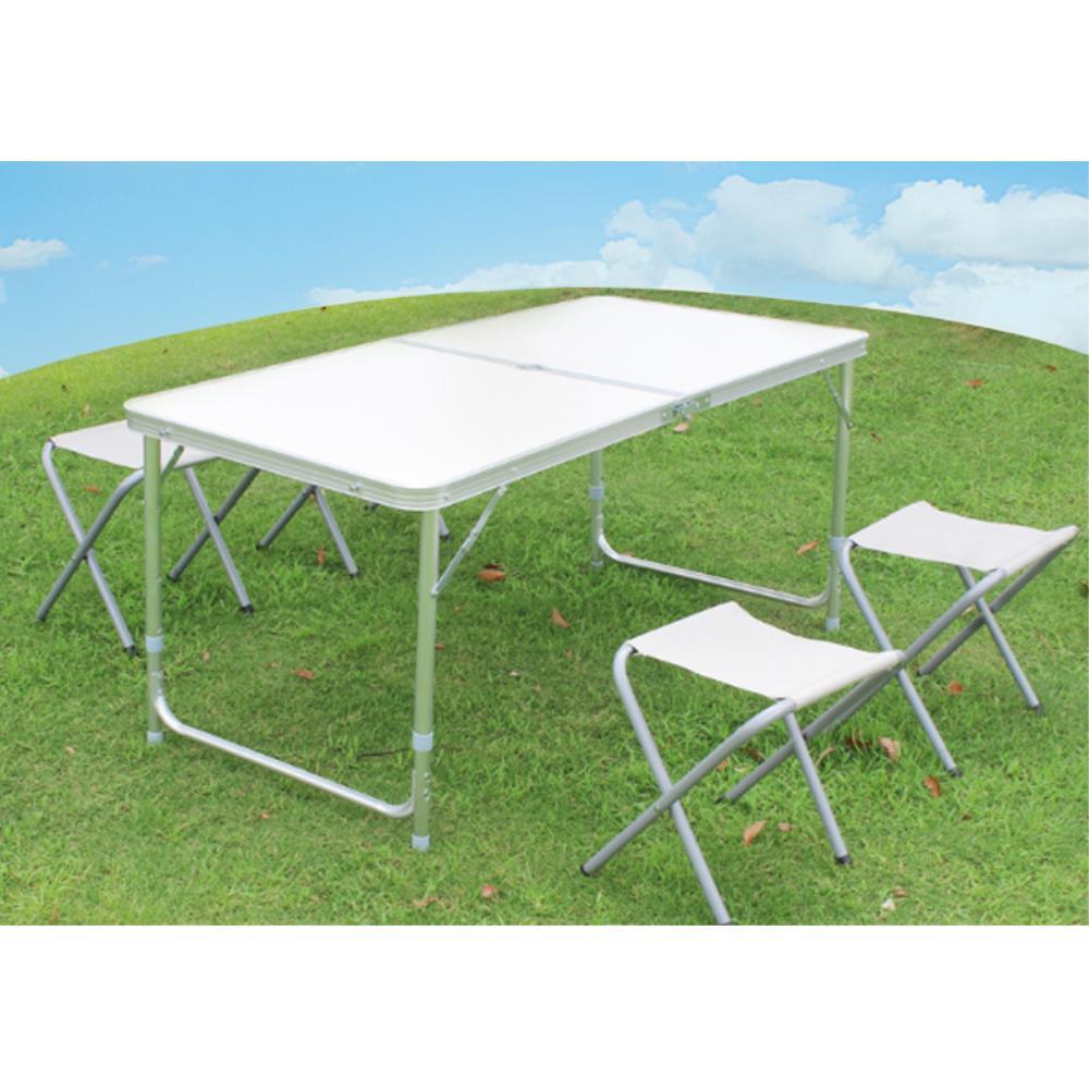4인용 접이식 캠핑 테이블 간이 의자 세트 캠핑테이블