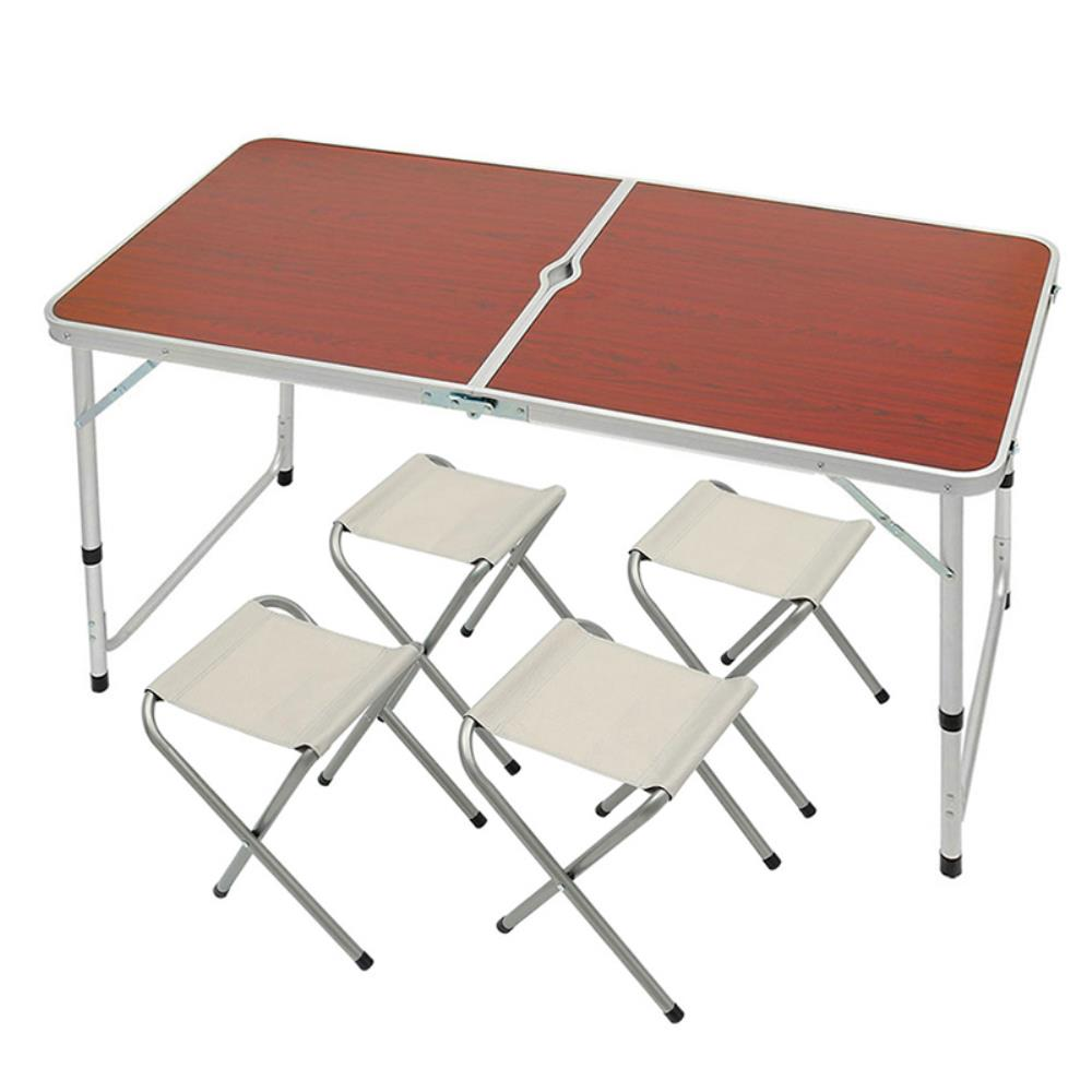 4인용 접이식 캠핑 레져 테이블 의자세트 야외탁자