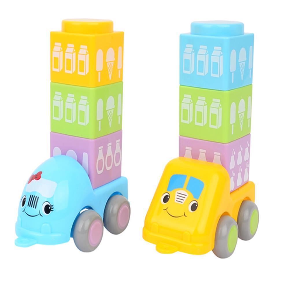 쌓기 블럭 놀이 아기 자동차 운송차 아기장난감