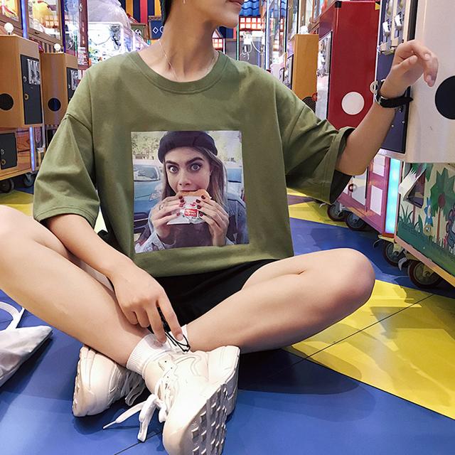 먹방요정 반팔 티셔츠