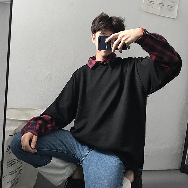 유니크 레이어드 티셔츠