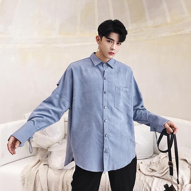 유니크 소매 셔츠