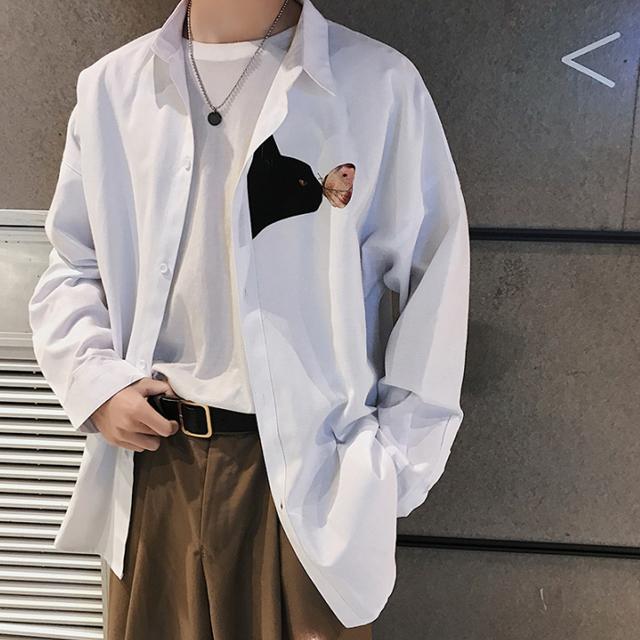 네코 프린팅 셔츠