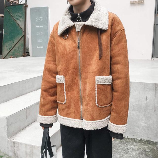 커플 양털 무스탕 자켓