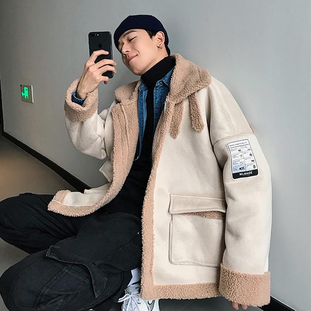 겨울 양털 무스탕 자켓