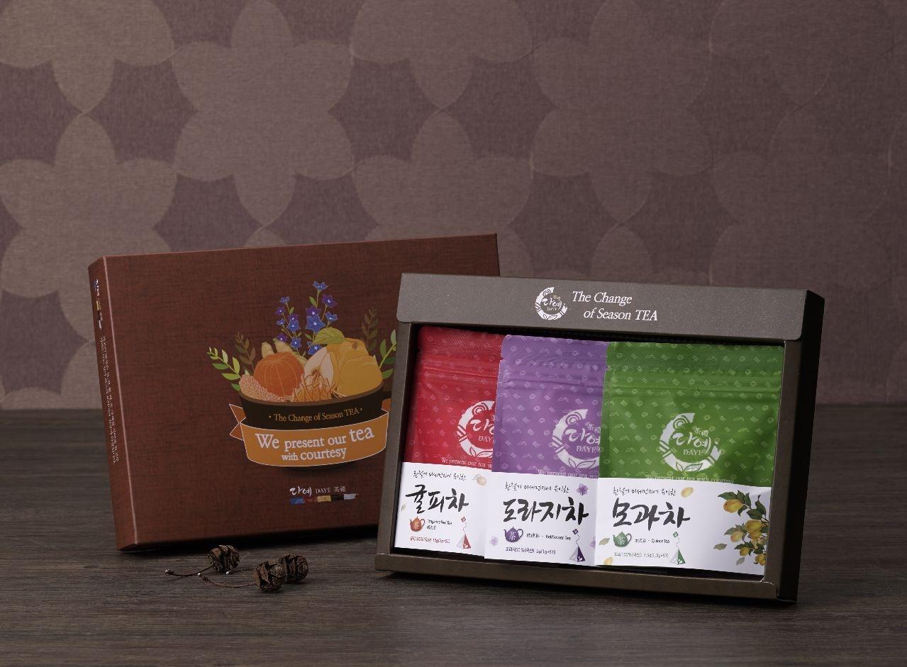 다예 순수 국산 삼각 시즌티3종 세트(삼각티백 15T)