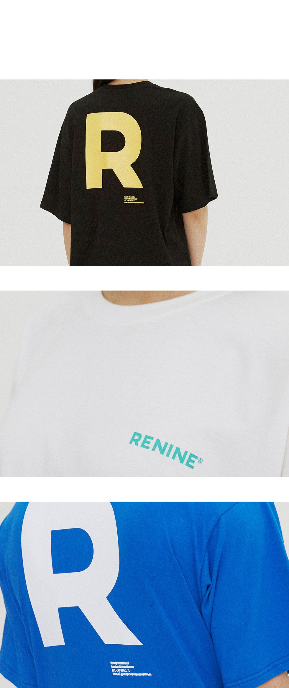 리나인(RENINE) 백 로고 티 화이트