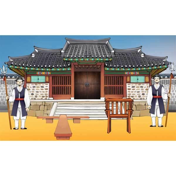 [키즈파람] 전통배경현수막146