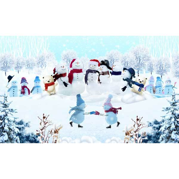 [키즈파람] 겨울현수막071 - 눈사람