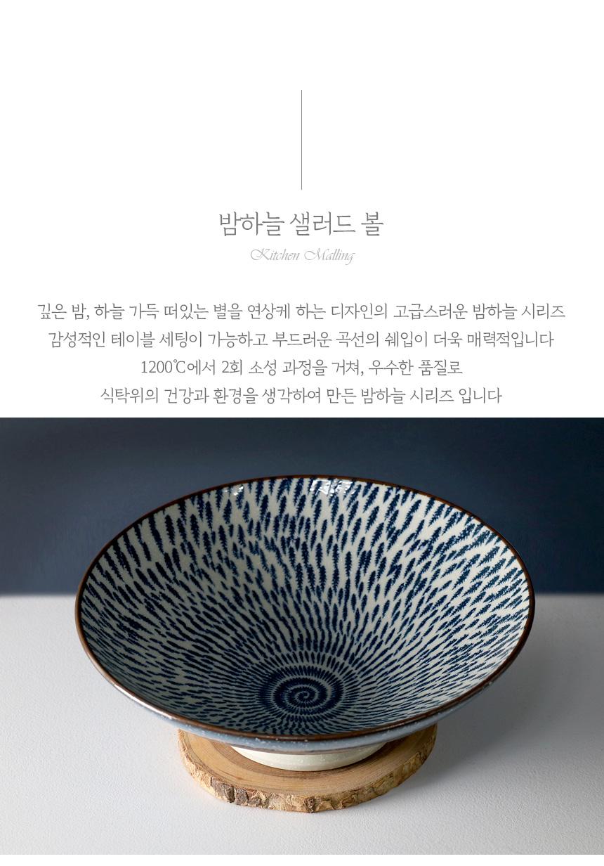 밤하늘 샐러드그릇 - 키친몰링, 14,700원, 파스타/면기/스프, 파스타