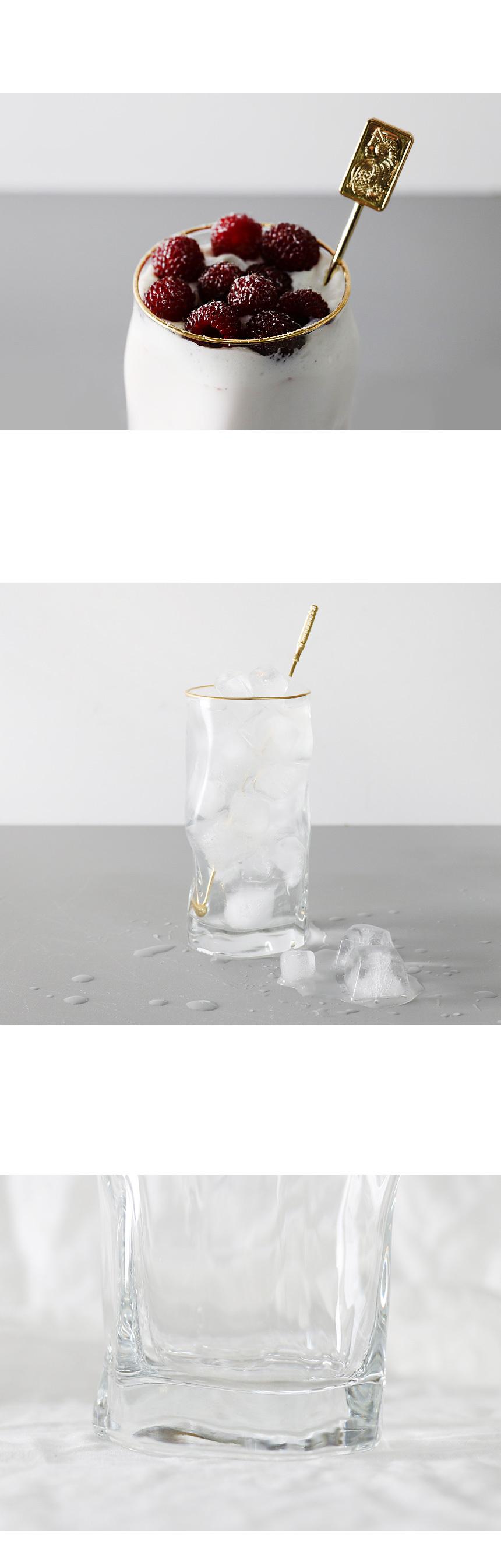 골드 물결 카페 유리컵 450ml - 키친몰링, 9,200원, 유리컵/술잔, 유리컵