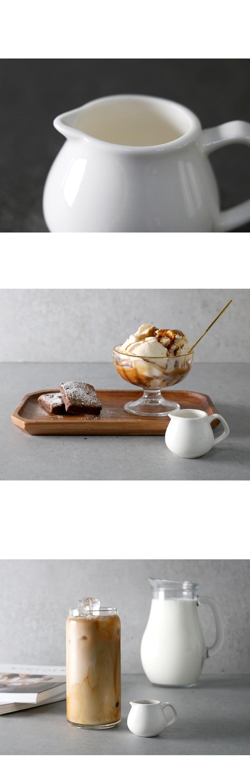 화이트 홈카페 시럽잔 미니저그 - 키친몰링, 2,500원, 커피잔/찻잔, 커피잔/찻잔