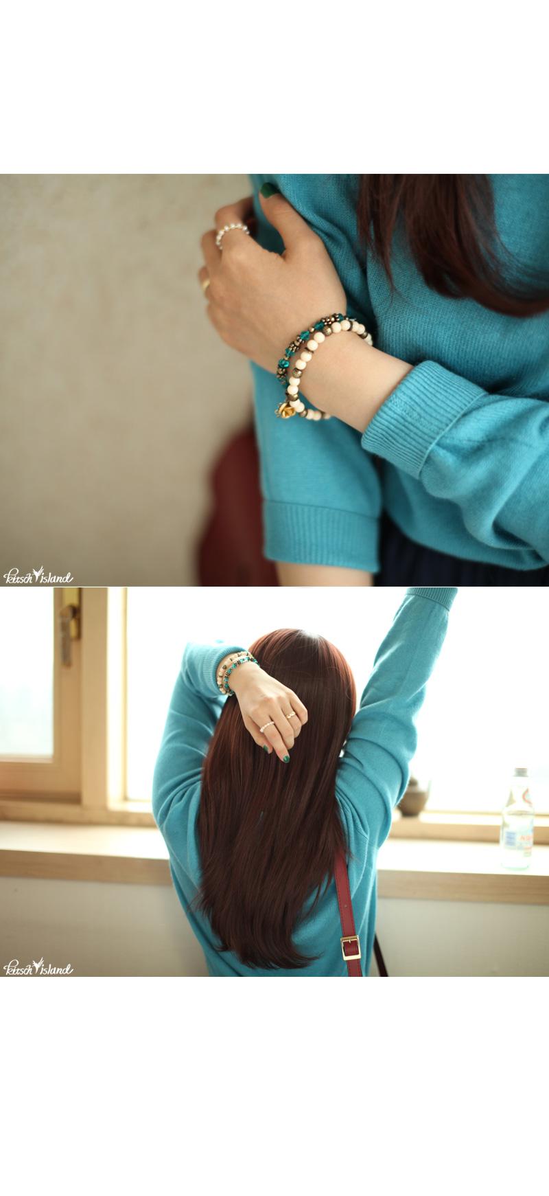 골드링 담수진주 반지 - 키치아일랜드, 9,000원, 패션, 패션반지