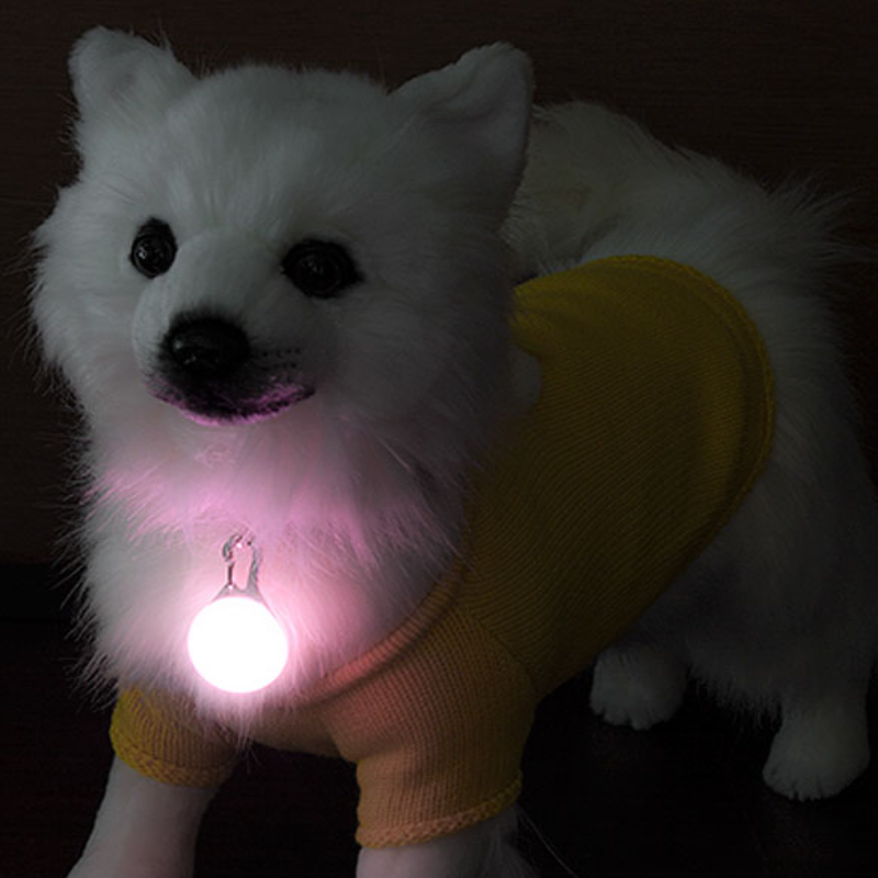 강아지 밤 야간 안전 산책 외출 LED 야광 발광 펜던트 미아방지 목걸이 10개 세트