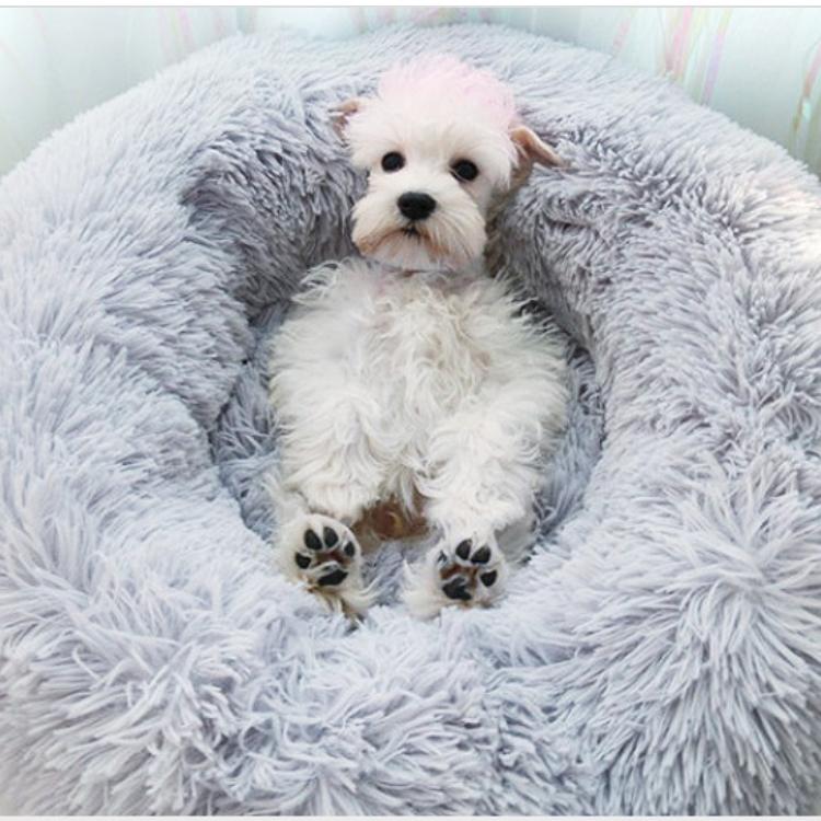 소형견 강아지 고양이 애견 푹신한 원통형 방석 패브릭 쿠션 60x20센티 매트 하우스