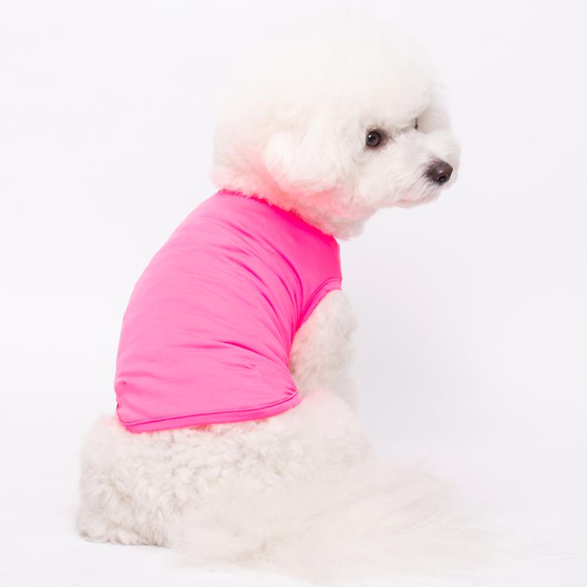 강아지 소형 중형 대형 핑크 여름 옷 쿨링티 습한속건 자외선차단 아이스티 민소매 냉감티