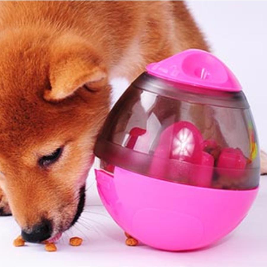 강아지 고양이 불리불안 핑크색 사료 간식 놀이 오뚜기 급식기 보울 식기 애견 식탁 밥그릇