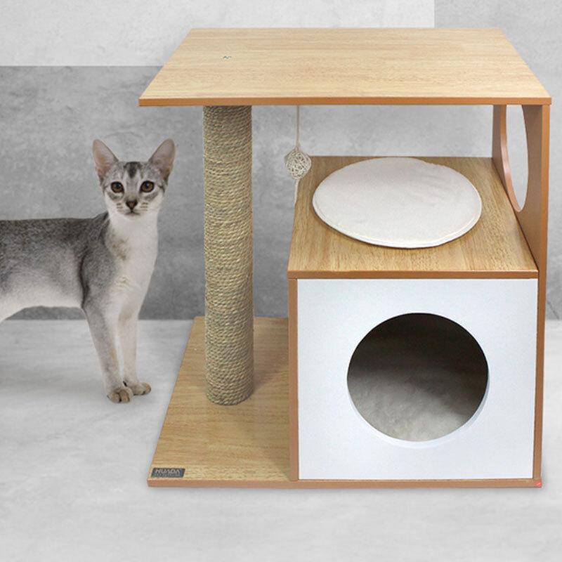 고양이 마이홈 스크래쳐 장난감 기둥형 원형 방석 선반 박스 캣타워 나무 집