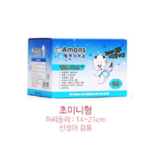 아기 강아지 초미니형 아몬스 암컷용 매너벨트 기저귀 팬티 소변 애견 생리대 10매