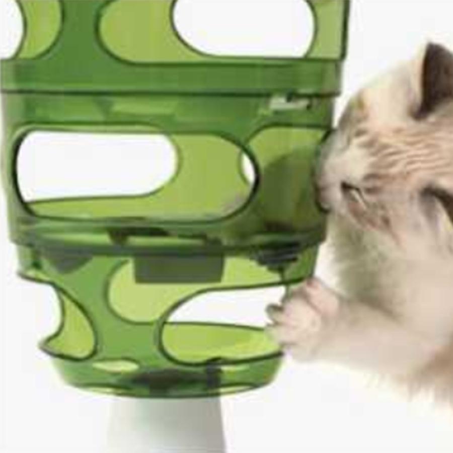 고양이 사료 스탠드 간식 놀이 재미 급식기 트리 밥그릇 슬로우 구멍 식기 노즈워크 식탁