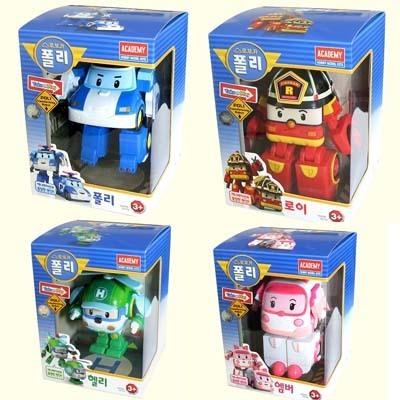 Robocar poli set 4pcs poly roi amber heli kid toy car korean animation character ebay - Robocar poli heli ...