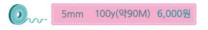 5mm 100y 6000원