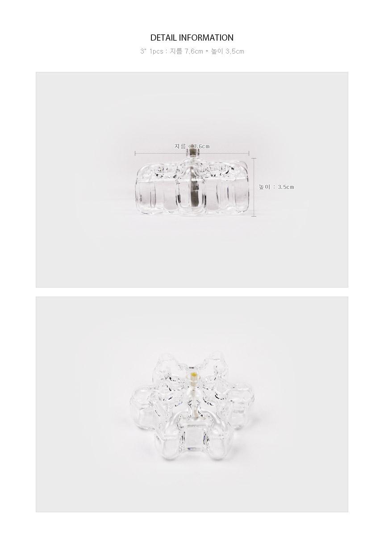 Firelight Crystal TableLight 3인치 사이즈