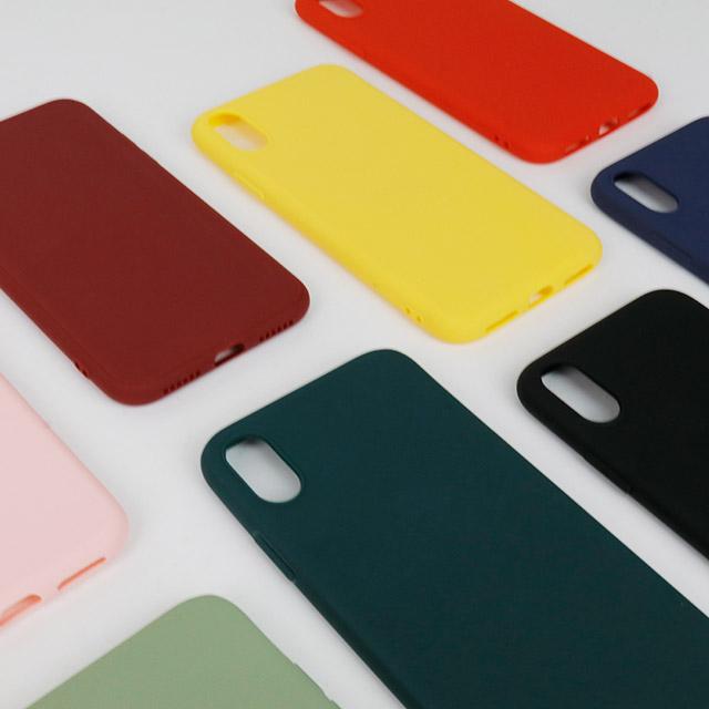 심플 젤리 컬러 아이폰 핸드폰 케이스