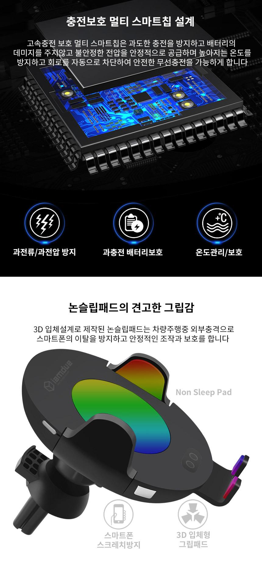 차량용 무선충전 거치대 충전기 자동 슬라이드 주피터C11 - 아이엠듀, 37,700원, 충전기, 무선충전기/패치