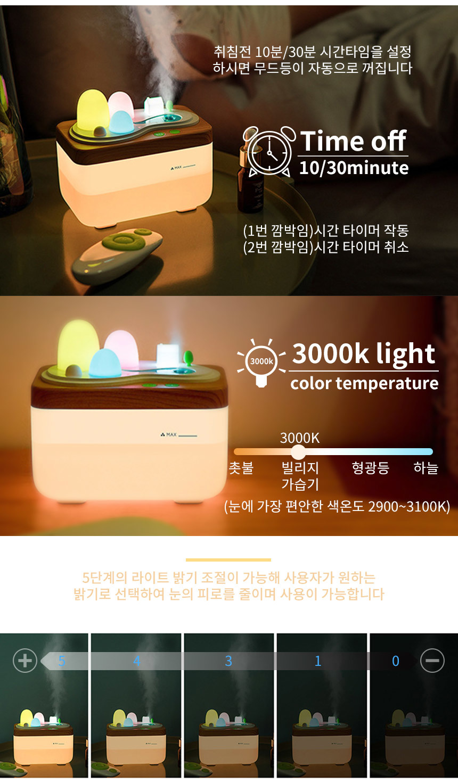 usb 미니 가습기 무드등 - 아이엠듀, 15,900원, USB 계절가전, 가습기