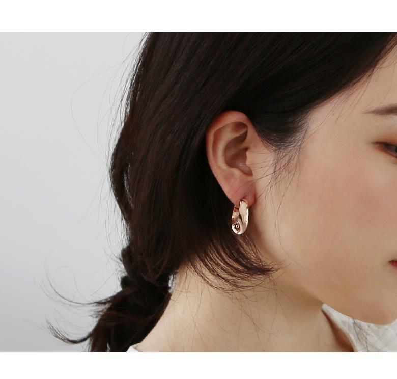 14K 링 꼬임 원터치 귀걸이 - 라샘 주얼리, 320,000원, 골드, 14K/18K