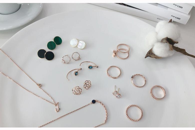 14K 사색 원석 침 귀걸이 (오닉스,말라카이트,자개,라피스라줄리) - 라샘 주얼리, 90,300원, 골드, 14K/18K