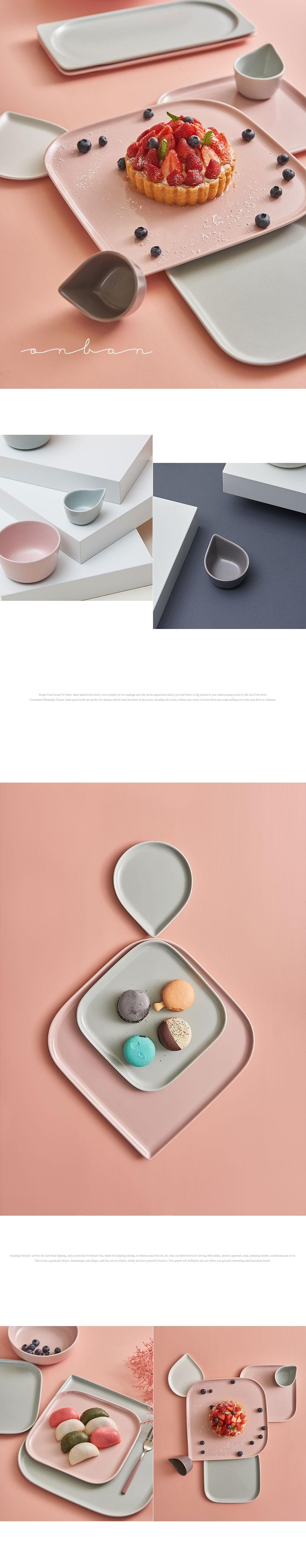 온반 4인 홈세트 21p 복숭아빛, 하늘빛, 우윳빛, 잿빛 - 라씨에뜨, 195,000원, 식기홈세트, 2인세트